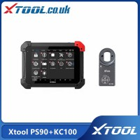 Xtool PS90 Tablet Professional Diagnostic Tool Plus Xtool KC100 Work for VW 4/5th IMMO and BMW CAS Key Programming