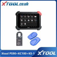 Xtool PS90 Tablet Diagnostic Tool Plus Xtool KC100 and Xtool KS1 Emulator VW 4/5th IMMO and BMW CAS Key Programming/Toyota All Key Lost