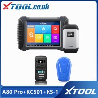 [UK/EU/US Ship ] XTOOL A80 Pro+KC501+KS-1 Full System Diagnosis With ECU Coding/Mercedes Infrared Key Programming Tool/All Key Lost For Toyota/Lexus