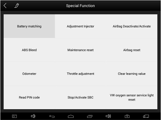 XTool PS90 Tablet special function