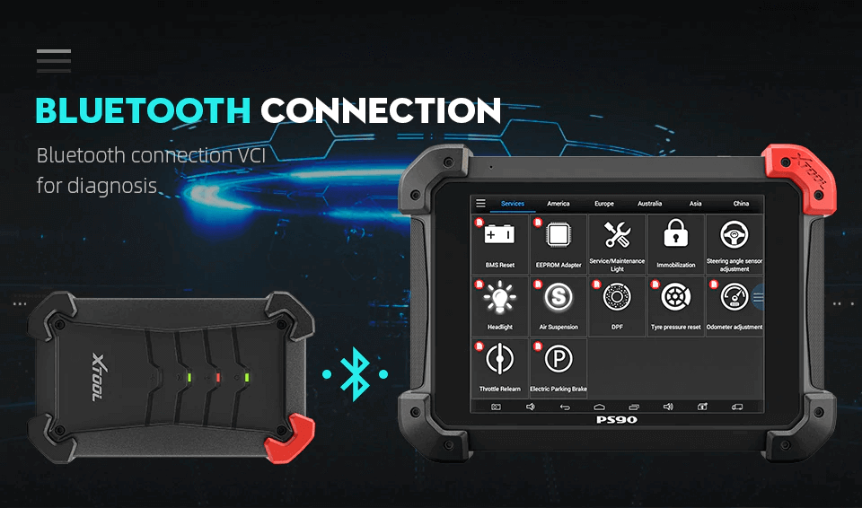 xtool ps90 bluetooth connection