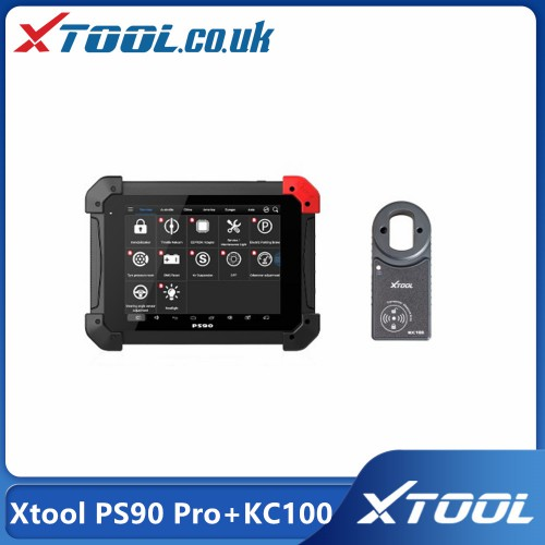 [UK Ship] Xtool PS90 Pro Diagnostic Tool with KC100 Work for VW 4th&5th IMMO and BMW CAS Key Progamming for Cars&Trucks