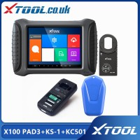 [UK/EU/US Ship No Tax] Xtool X100 PAD3 (X100 PAD Elite) Plus Xtool KS-1 SMART KEY SIMULATOR and Xtool KC501 for Benz key programming