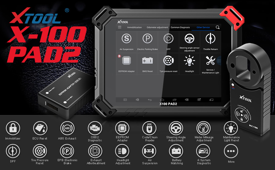 xtool x100 pad2 pro with kc100 key programmer