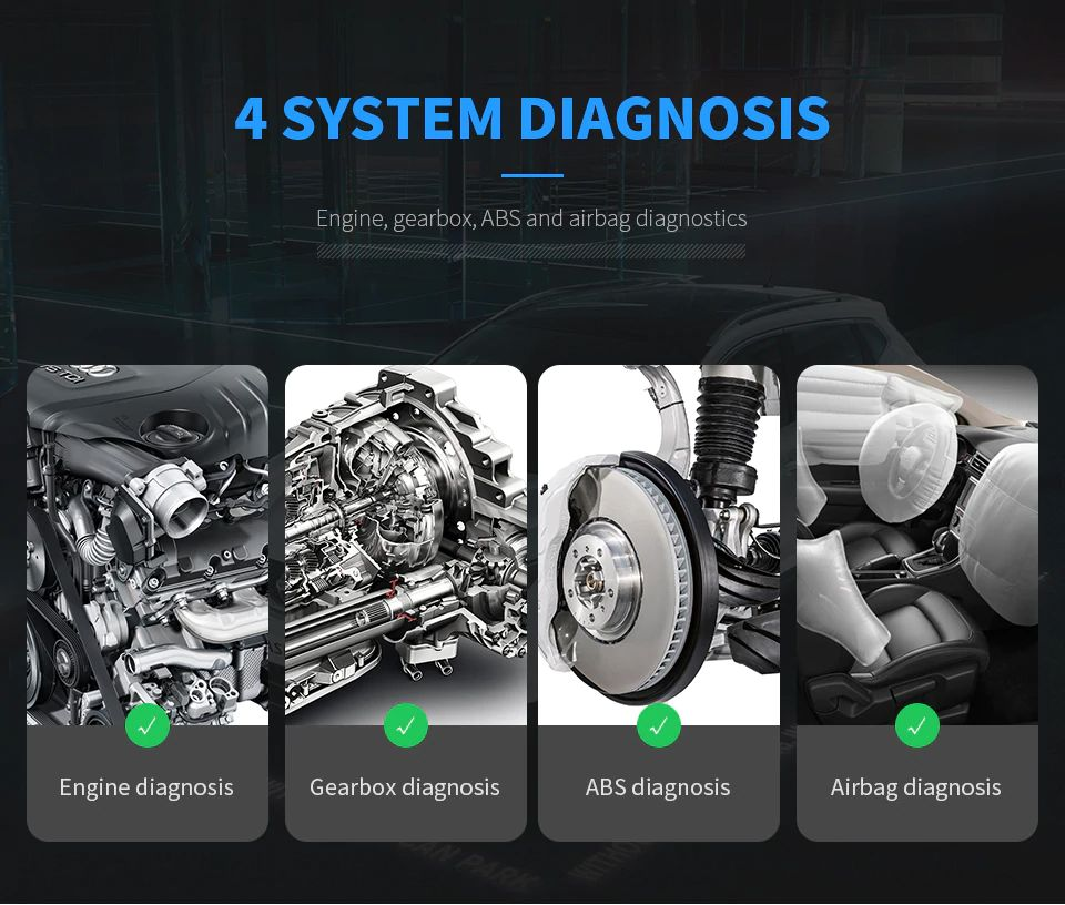 XTOOL X100 Pad2 4 system diagnosis