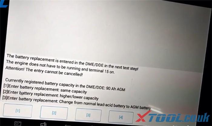 Réinitialisation de la batterie Xtool Ps90 Bmw 5