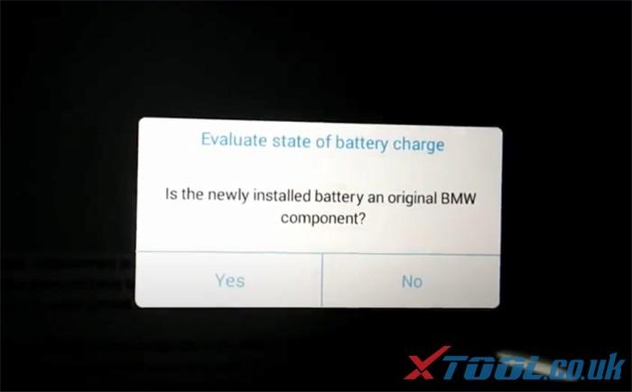 Réinitialisation de la batterie Xtool Ps90 Bmw 6