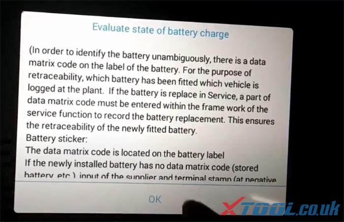 Réinitialisation de la batterie Xtool Ps90 Bmw 7