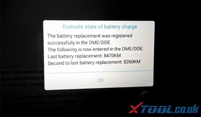 Réinitialisation de la batterie Xtool Ps90 Bmw 10