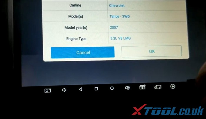 Xtool X100 Pad3 Diagnose 2007 Chevrolet Tahoe 6